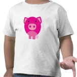 Cerdo rosado camiseta