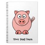 Cerdo rosado cuaderno