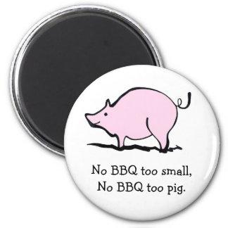 Cerdo rosado del dibujo animado imán para frigorifico
