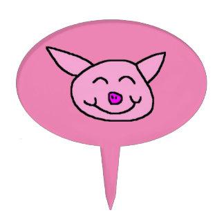 Cerdo rosado feliz decoraciones para tartas