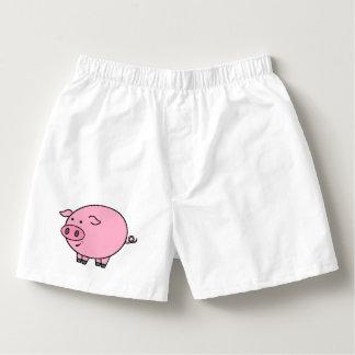 Cerdo rosado gordo calzoncillos
