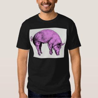 Cerdo rosado gordo grande camisas