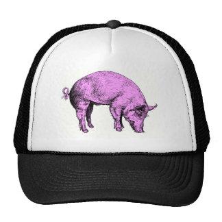 Cerdo rosado gordo grande gorros bordados