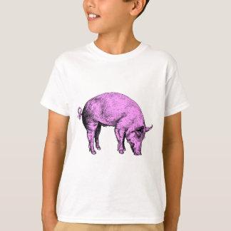 Cerdo rosado gordo grande playera