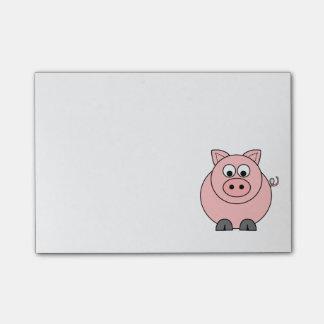 Cerdo rosado gordo post-it® notas