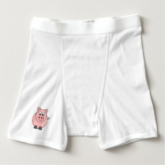 Cerdo rosado gordo boxers