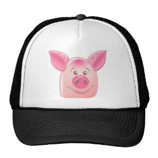 Cerdo rosado gorros