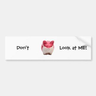 Cerdo rosado hediondo pegatina para auto