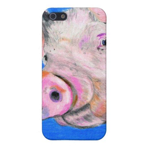 Cerdo rosado iPhone 5 fundas