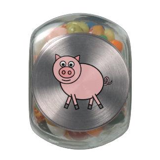 Cerdo rosado jarras de cristal jelly bely