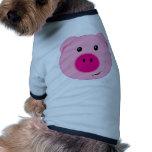 Cerdo rosado lindo camiseta de mascota