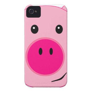 Cerdo rosado lindo carcasa para iPhone 4 de Case-Mate