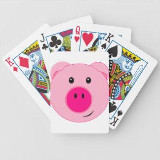 Cerdo rosado lindo baraja
