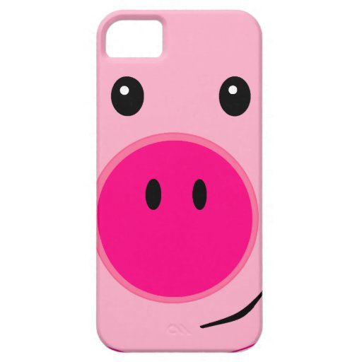 Cerdo rosado lindo iPhone 5 Case-Mate protector