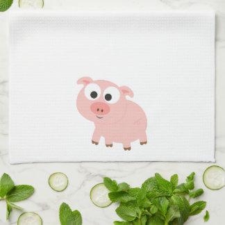 Cerdo rosado lindo toallas