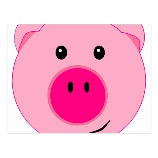 Cerdo rosado lindo postales