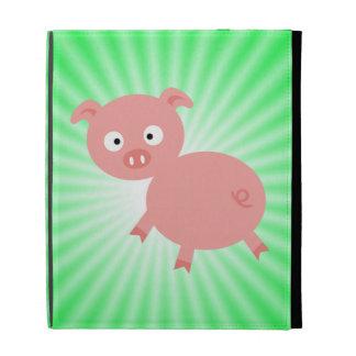 Cerdo rosado lindo; Verde