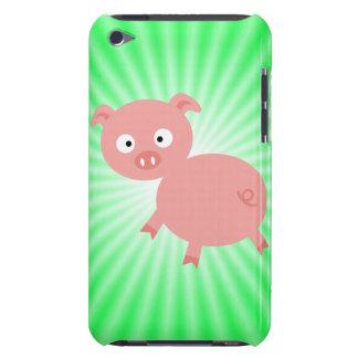 Cerdo rosado lindo; Verde iPod Touch Case-Mate Protector