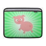 Cerdo rosado lindo; Verde Funda MacBook