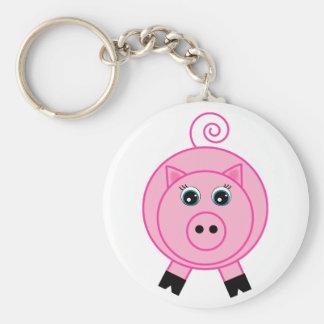 Cerdo rosado llaveros personalizados