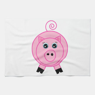 Cerdo rosado toallas
