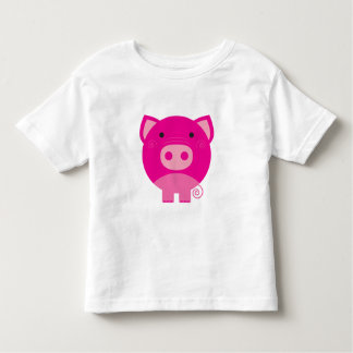 Cerdo rosado playera de niño