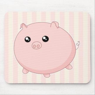 Cerdo rosado rechoncho lindo de Kawaii Tapete De Raton