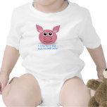Cerdo rosado - soy diseño todavía lindo camiseta