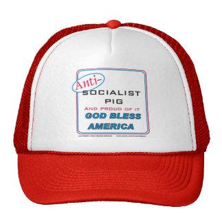 Cerdo socialista anti gorras de camionero