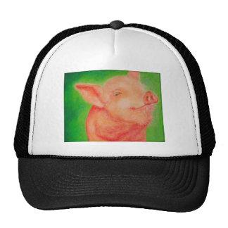 Cerdo sonriente gorras