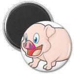 Cerdo sonriente iman