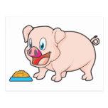 Cerdo sonriente postal