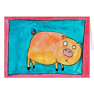 Cerdo sorprendido • Nick Abrams, edad 13 Tarjeta Pequeña