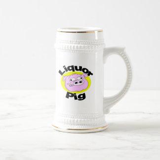 Cerdo Stein del licor Jarra De Cerveza