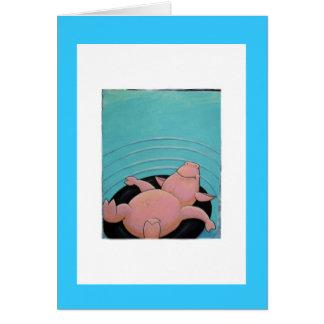 cerdo tarjeta de felicitación