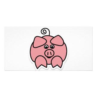 cerdo tarjeta fotográfica personalizada