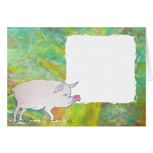 cerdo tarjetón