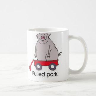 Cerdo tirado tazas