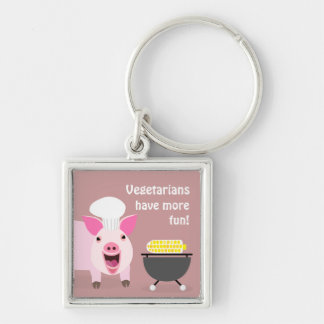 Cerdo vegetariano Keychaing Llaveros Personalizados