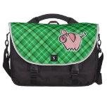 Cerdo verde bolsas para ordenador