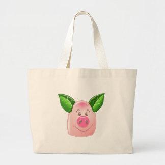 Cerdo verde de la hoja bolsa