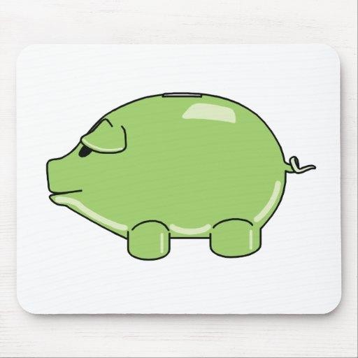 Cerdo verde Mousepad Alfombrillas De Ratones