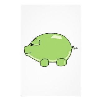 Cerdo verde  papeleria