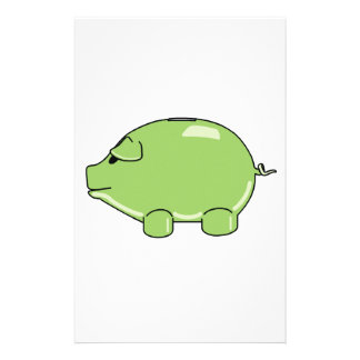 Cerdo verde papeleria de diseño