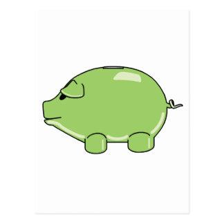 Cerdo verde postal