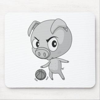 Cerdo y baloncesto tapetes de ratones