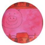 Cerdo y manzanas platos