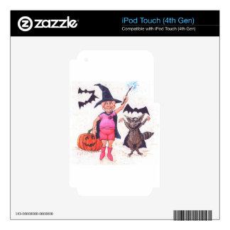 Cerdo y mapache Halloween iPod Touch 4G Calcomanía