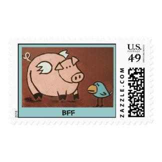 cerdo y pájaro, franqueo de BFF