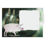 cerdo y torres gemelas de Malasia Petronas Felicitacion
